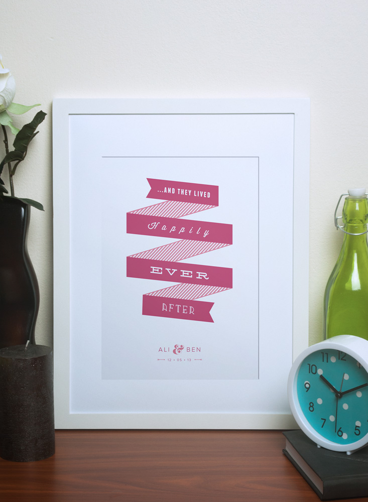 Personalised Wedding Gift Ribbon : ribbon print plum personalised ribbon print cherry personalised ribbon ...